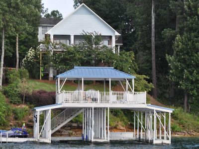 Photo for Smith Lake Rentals & Sales - EAGLE'S LANDING - Double decker dock