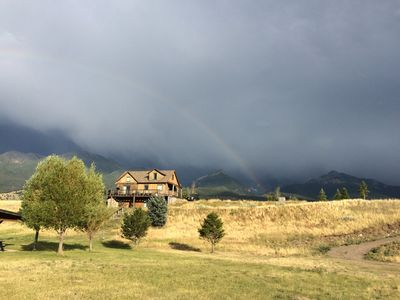 Rainbow Storm at Yellowstone House