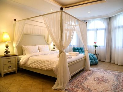 Photo for elite palaces 7 bedroom villa with private swimming pool and beach