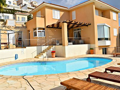 Photo for 5 Bedroom Villa with Amazing Sea Views - Private Swimming Pool - Games Rooms