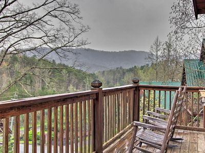 Photo for NEW! Cozy Pigeon Forge Cabin w/Hot Tub & Game Room