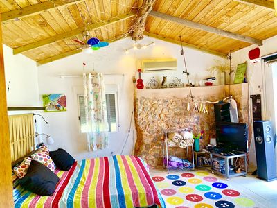 Photo for little cozy house with big pool 10x5 in Ibiza