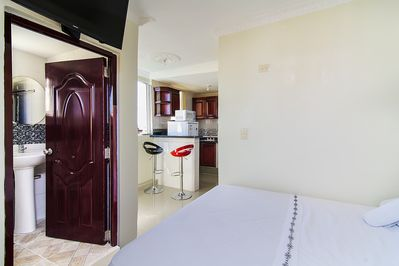 Air conditioned Fully furnished Studio, Full kitchen, terrace and private bath