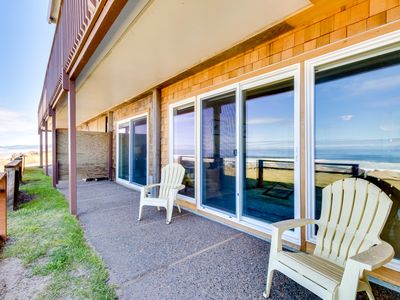 Photo for Oceanfront, dog-friendly condo w/sweeping views and beach access