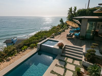 Photo for 5BR Oceanside Estate w/ Saltwater Pool, Fireplaces, & Private Beach