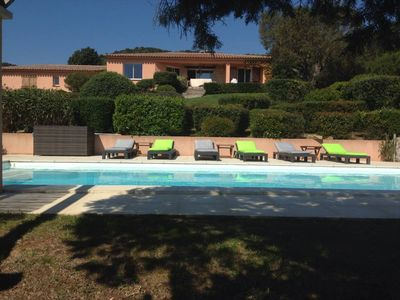 Photo for villa standing, sea view, private pool secure and heated