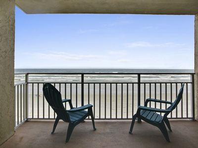 Sit and relax on your private balcony overlooking the ocean.