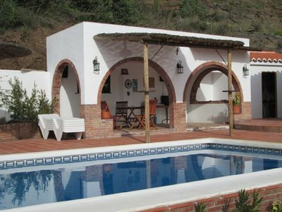 Pool and covered terrace