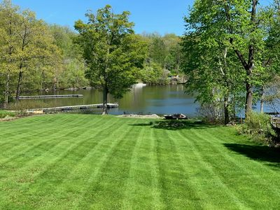 NEWLY RENOVATED Year Round Lake Front Retreat - game room, firepit, boat dock,