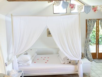 Photo for Delightful romantic gite restored to a high standard. 10% off Brittany Ferries.
