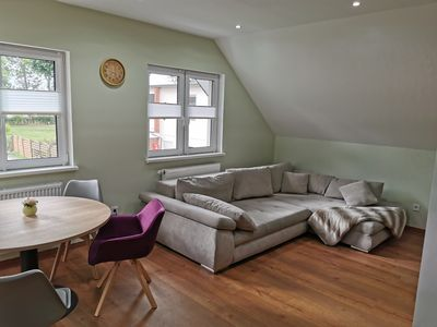 Photo for Modern apartment own roof terrace quietly located in the historic backyard