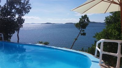 Lovely view from our Infinity pool