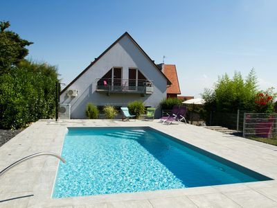 Photo for Cottage with heated pool, near Eguisheim