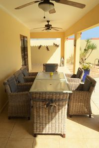 patio outside dining area