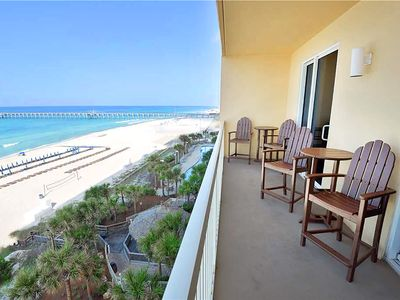 Photo for ☼BeachFRONT☼Calypso 1-608 East-3BR-Beach Service! Oct 20 to 23 $734 Total!