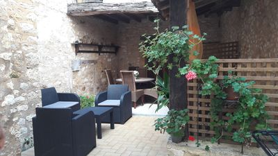 Photo for HOUSE AT THE HEART OF A MEDIEVAL BASTIDE WITH SHADED PATIO