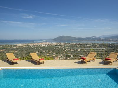 Photo for Luxury stonemade villa with exceptional view & pool