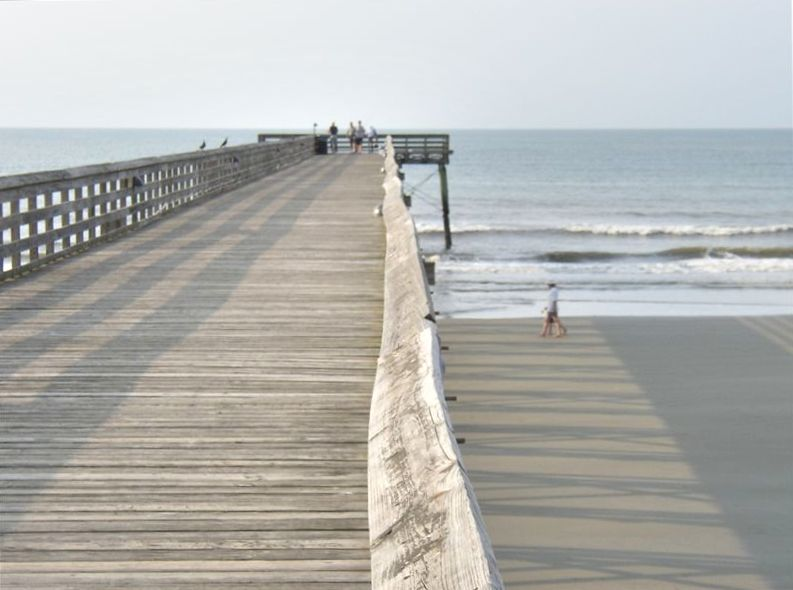 1br beachfront condo pool pier private balcony isle for Isle of palms fishing pier