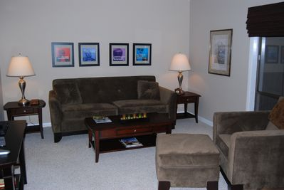 Comfortable furnishings in the living room