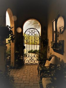 Step into this charming courtyard and be transported to your oasis in the desert