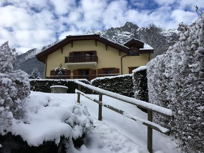 Photo for CHRISTMAS HOLIDAY PROMOTION Historic heart of Chamonix, Grand Calme. Garden. Car park