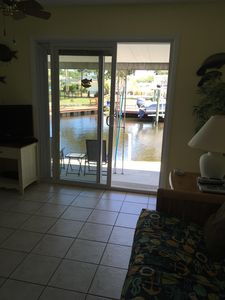 You can see the manatees and dolphins from your living room.