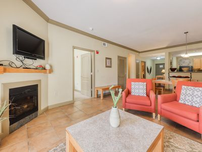 Photo for Mountain view luxury condo w/shared hot tub & indoor/outdoor resort pool access