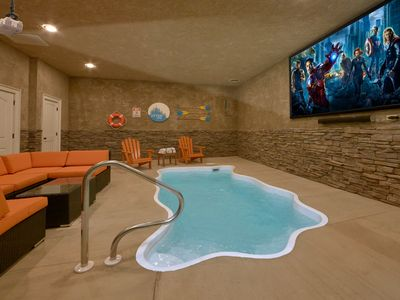 Photo for Brand New - Private indoor heated pool and theater room!
