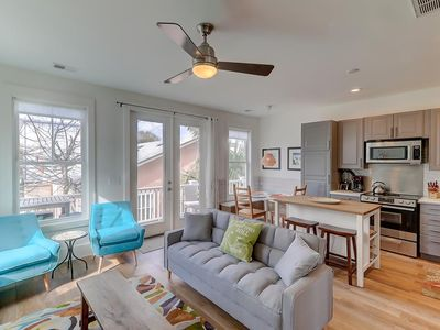 Photo for High-End Modern Townhouse on Folly! Ocean views, Walk to downtown area