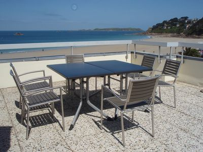 Photo for Apartment exceptional sea beach Trestaou in PERROS GUIREC