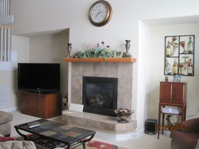 Living Room, gas fireplace