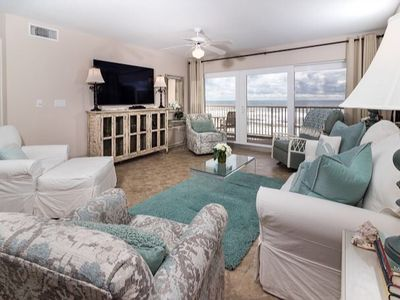 """Photo for FABULOUS VIEW FROM ONE OF THE LARGEST BALCONIES ON  ISLAND, 4 beds, 65"""" TV"""