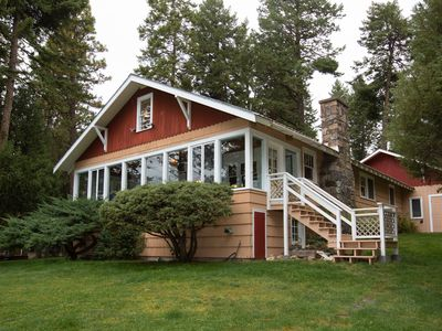 Photo for Charming lakefront home w/ a fireplace, dock, & beautiful mountain views