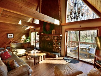 Photo for Cozy Family Retreat - 5-Minute Walk from Lake Harmony, Wi-Fi and Game Room