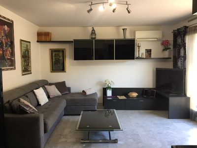 Photo for 2 ROOMS very sunny + Large Terrace 22mq + Barbecue + Air conditioning