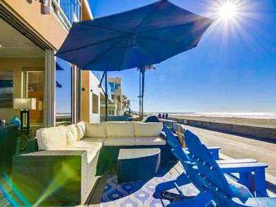 Photo for ☀️ JERSEY GEM* ☀️ Ground Level OCEANFRONT Condo, Patio on the Boardwalk!