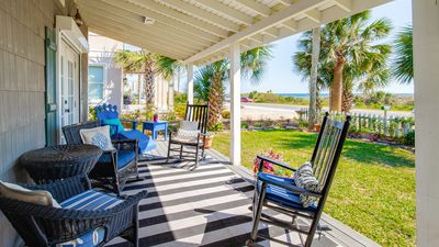Photo for Beautiful Beach Views! Front Porch Faces The Beach!
