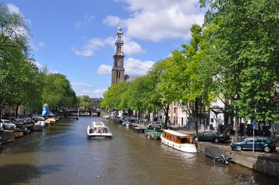 The timeless view from the corner with the majestic Westerkerk nearby