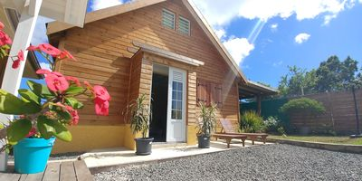 """Photo for Bungalow """"Color Butterfly"""" 4 people with pool and close to the beach"""