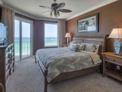 Photo for Spectacular Sunsets from this 3 bedroom Beachfront Unit in the heart of PCB!!
