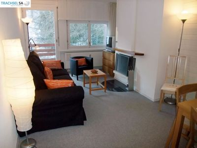 Photo for Very nice apartment (max 4 pers) with 1 bedroom (bed 2 pers and bunkbed )) near the telecabine. Livi