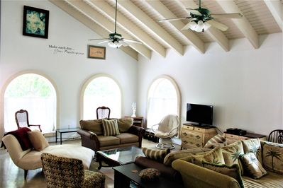 Great Room 25' cathedral ceilings. Sweeping and stunning!