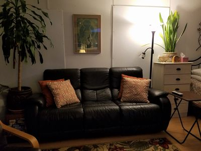 Beautiful reclining leather couch