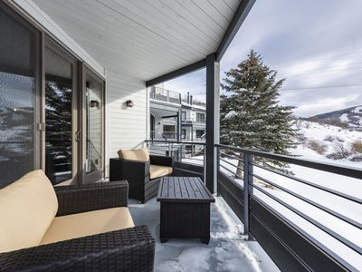 Photo for Stunning Mountain Views! Spacious Townhome with Decks Overlooking Pond