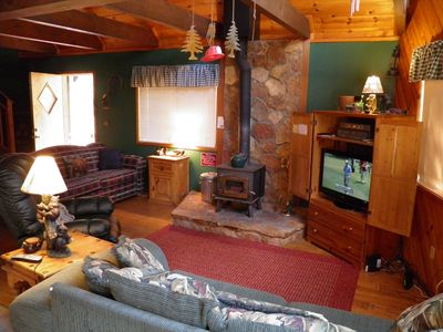 Photo for 1597 Oglala Super Cute Chalet in the Woods with a Huge Deck and Loft!