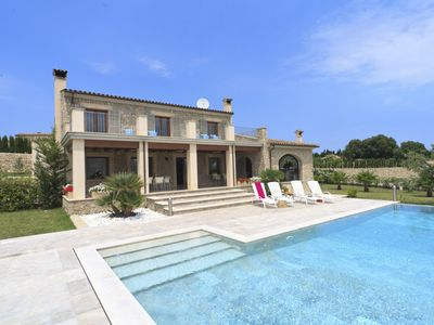 Photo for es Barcares Villa, Sleeps 11 with Pool, Air Con and WiFi