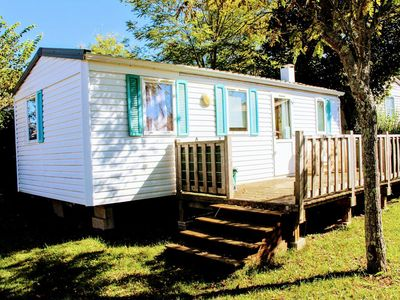 Photo for Camping Le Pontis ** - Mobile home 4 rooms 6 people