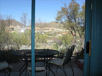 View from living room   Golf course, mountains, Marriott resort