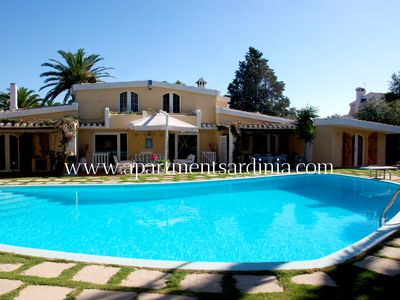 Photo for Sardinia House / Villa -  nearby the residential area of Margine Rosso, with pool, tennis court, big garden, 5 min by car from the beach -  SPECIAL OFFERT- FREE WIFI