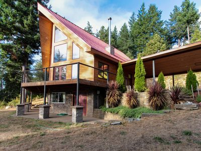 Photo for NEW LISTING! Equestrian country home with ocean view - dogs welcome!